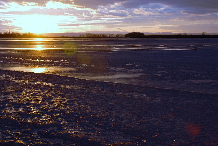 Sonnenuntergang im Seewinkel
