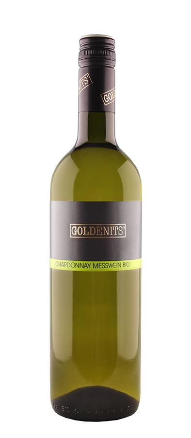 Goldenits Weinflasche Chardonnay Messwein