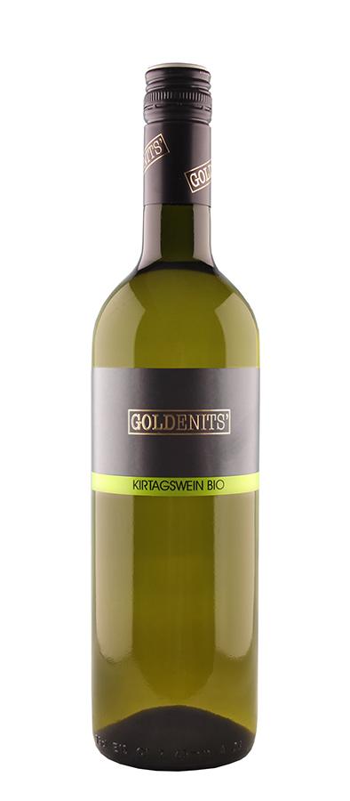 Goldenits Weinflasche Kirtagswein