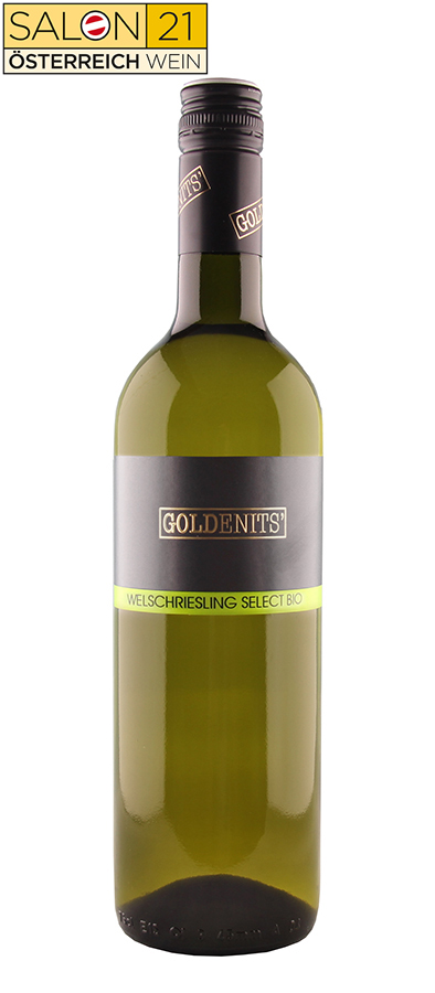 Goldenits Weinflasche Welschriesling Select Salon 2021