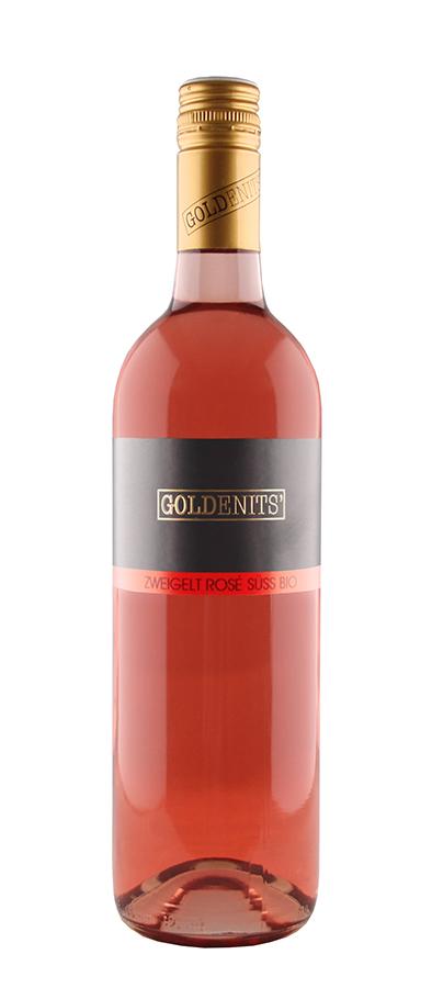 Goldenits Weinflasche Zweigelt Rosé süß